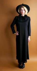 Long Sleeve Black Sweater Dress