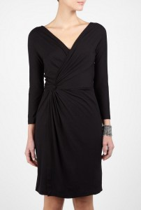Long Sleeve Black Wrap Dress