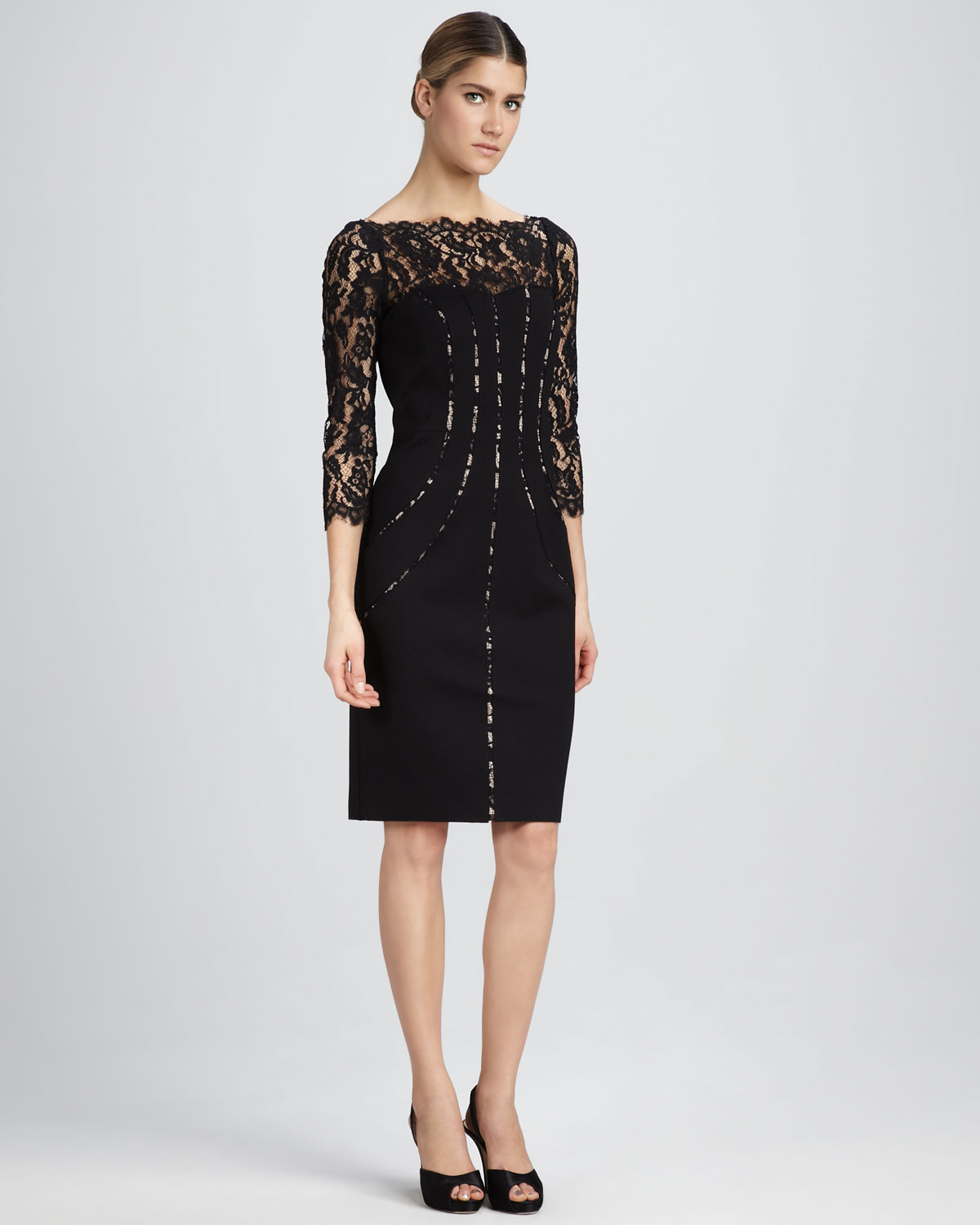 Lace Dresses With Sleeves: Lace Cocktail Dress Picture Collection