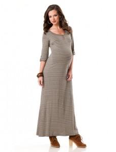 Long Sleeve Maternity Maxi Dress
