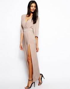 Long Sleeve Maxi Wrap Dress