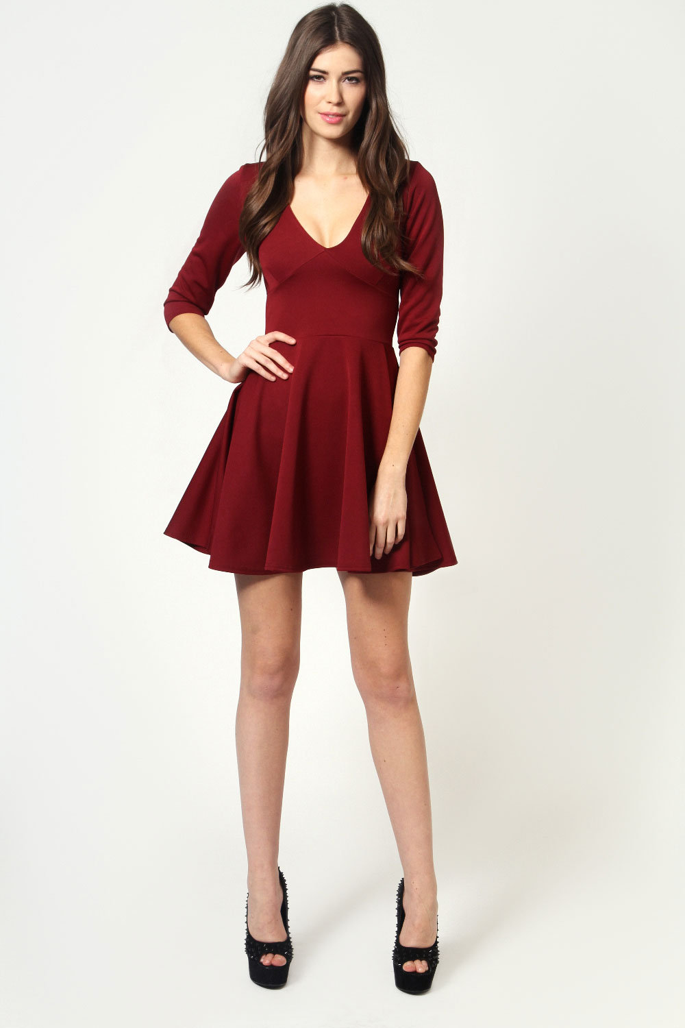 Skater dresses with sleeves