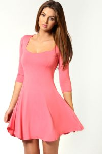 Long Sleeve Skater Dresses
