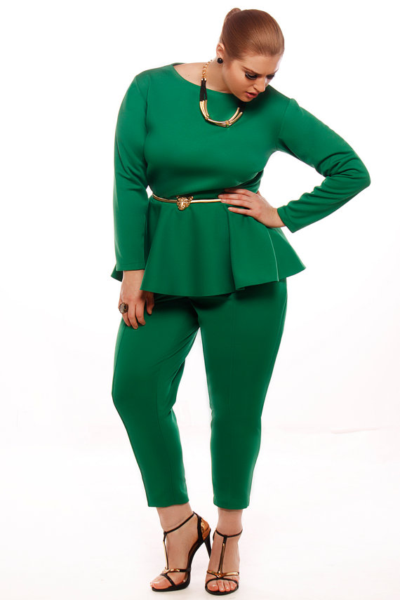 Long Sleeved Peplum Dress