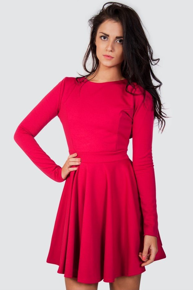 Long Sleeve Skater Dress Picture Collection