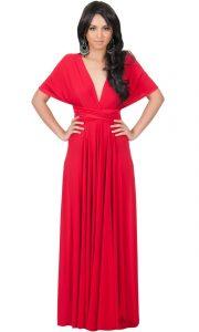 Long Wrap Maxi Dress