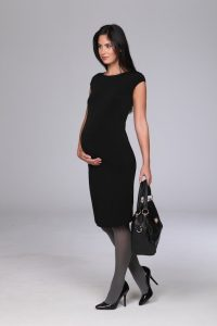 Maternity Black Maxi Dress
