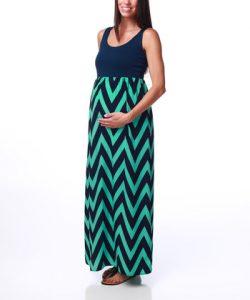 Maternity Chevron Maxi Dress