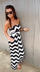 Maxi Chevron Dress