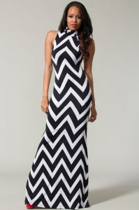 Maxi Dress Chevron