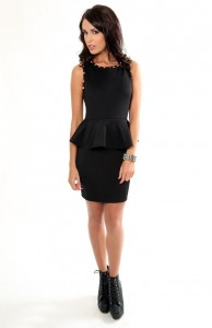 Peplum Black Dress