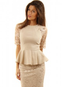 Peplum Dress Lace