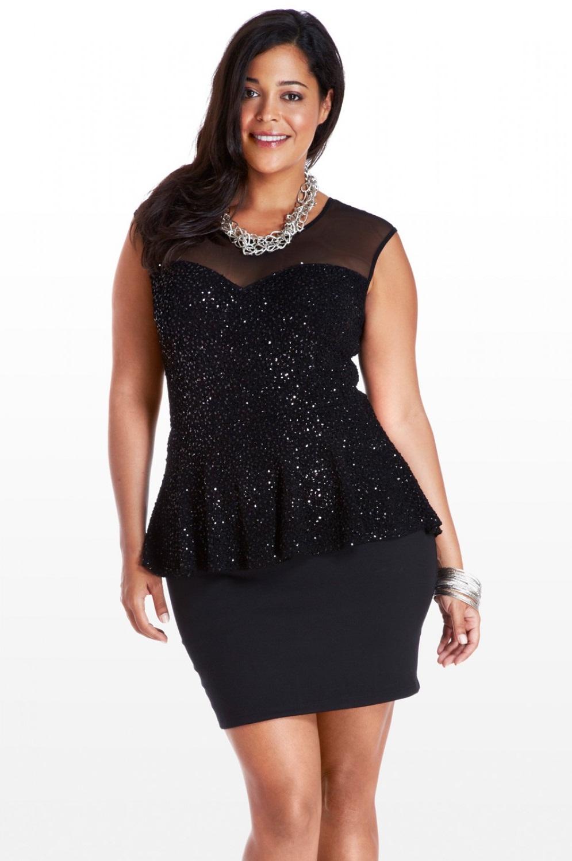 Peplum Midi Dress - Classic Black / Lace / Open Back
