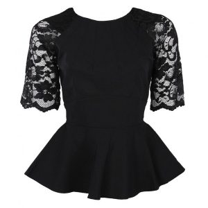 Peplum Dress With Lace