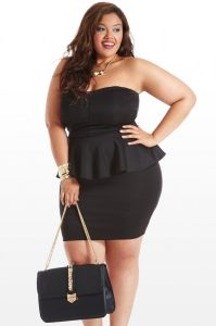 Peplum Dress for Plus Size