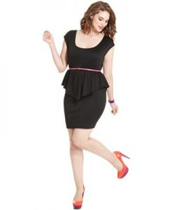 Peplum Plus Size Dresses