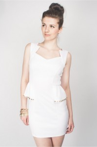 Peplum White Dresses
