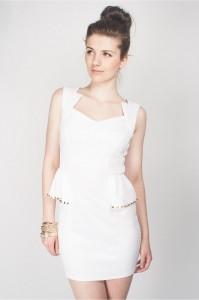 Peplum White Dresses