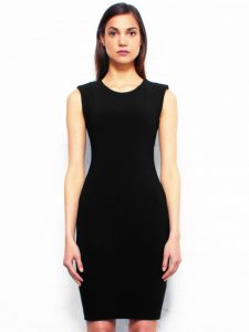 Plain Black Bodycon Dress