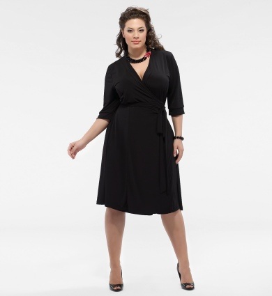 Plus Size Wrap Dress | Dressed Up Girl