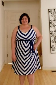 Plus Size Chevron Dresses