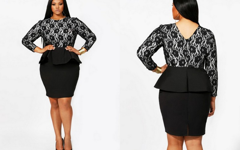 Plus Size Peplum Dress | Dressed Up Girl