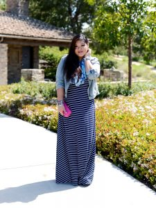 Plus Size Stripes Chevron Dress