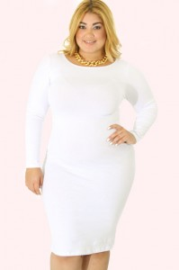 Plus Size White Bodycon Dress