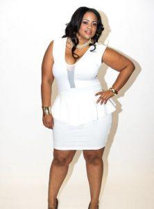 Plus Size White Peplum Dress