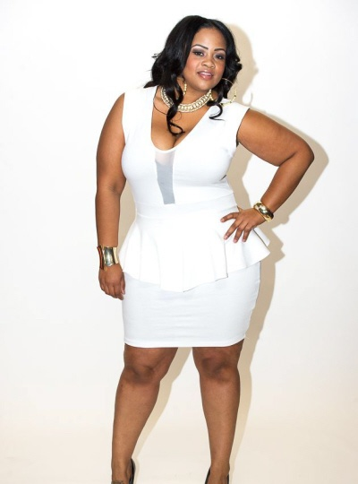 Awesome Plus Size Peplum White Dress Contemporary ...