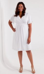 Plus Size White Wrap Dress