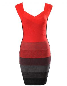 Red Bandage Dress Cheap