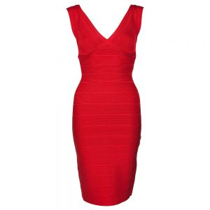 Red Bodycon Bandage Dress