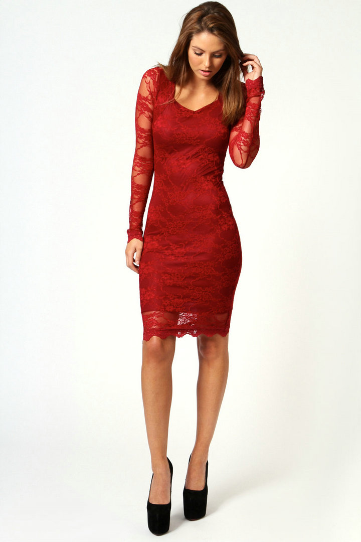 Red Lace Cocktail Dress Macys - Formal Dresses