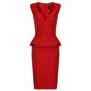 Red Peplum Dress