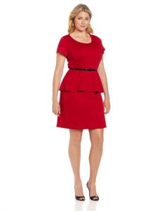 Red Peplum Dress Plus Size