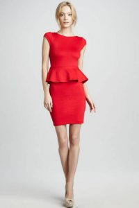 Red Peplum Dresses
