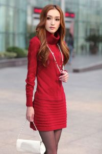 Red Sweater Dress for Women