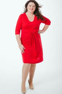 Red Wrap Dress Plus Size