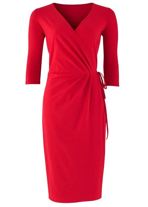 Red Wrap Dress Picture Collection Dressedupgirl Com