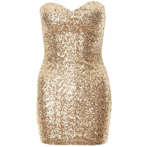 Sequin Bodycon Strapless Dress
