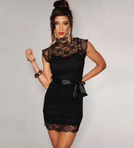 Short Black Lace Dress