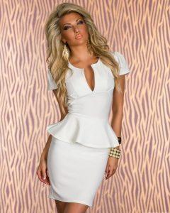 Short White Peplum Dress
