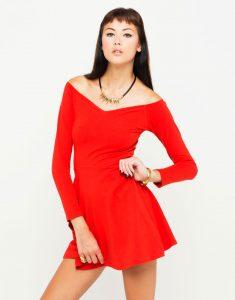 Skater Dress Red