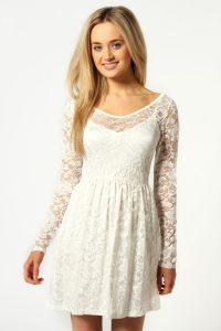 Skater Dress White