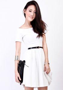 Skater White Dress