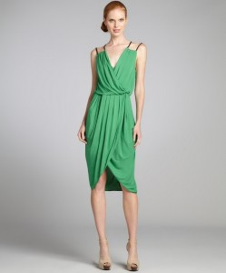 Sleeveless Faux Wrap Dress