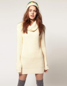 Sweater Dress Cowl Neck
