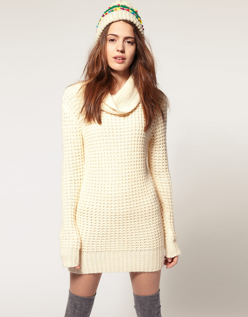 Cowl Neck Sweater Dress | Dressed Up Girl