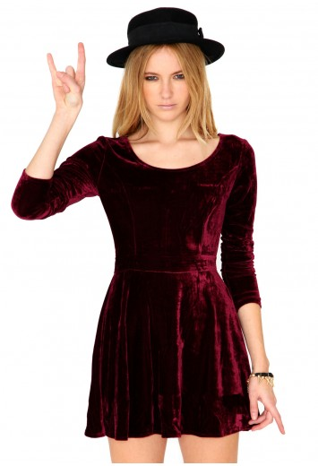 Velvet Skater Dress Dressed Up Girl